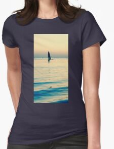 Rainbow Sail Womens Fitted T-Shirt