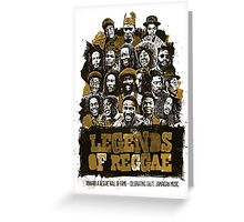 THE LEGENDS OF REGGAE GIFT Greeting Card
