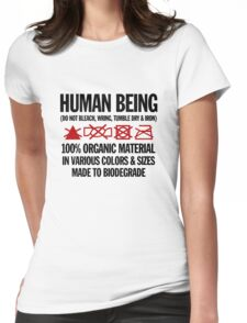 the care & washing of humans Womens Fitted T-Shirt