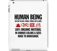 the care & washing of humans iPad Case/Skin