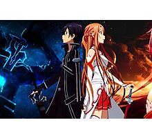 asuna and kirito back to back in arms Photographic Print