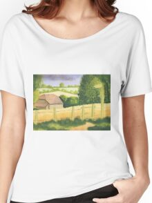 The Barn in Cornfield Women's Relaxed Fit T-Shirt