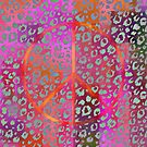 Peace Sign on Patterns by Dana Roper