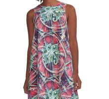 Whirling Life A-Line Dress