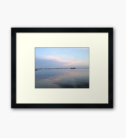 Pastel Clouds Framed Print