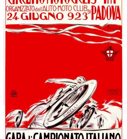 1923 Italian Motorcycle Race Poster Sticker