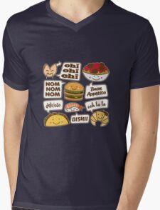 Talking Food Mens V-Neck T-Shirt