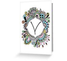 V Greeting Card
