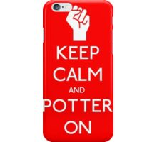 Keep calm and potter on iPhone Case/Skin