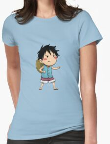EDR 791 Cute Luffy Womens Fitted T-Shirt
