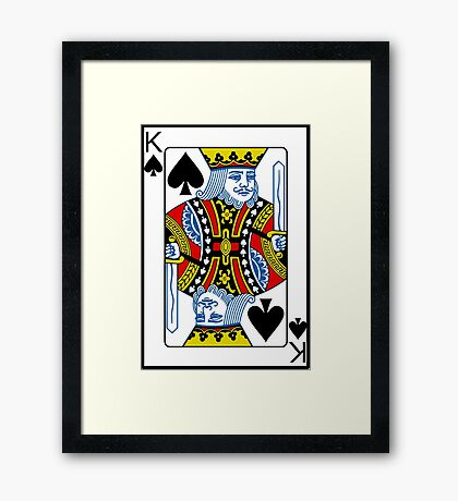 King of Spades Playing card Poker Framed Print