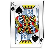 King of Spades Playing card Poker Poster