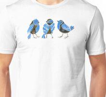 Blue Finches Unisex T-Shirt