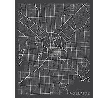 Adelaide Map, Australia - Gray Photographic Print