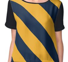 Berkeley California Navy & Gold Team Color Stripes Chiffon Top