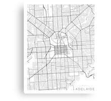 Adelaide Map, Australia - Black and White Canvas Print