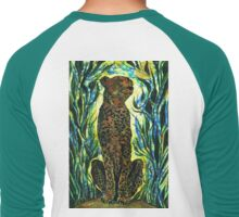 Tall Cheetah Men's Baseball ¾ T-Shirt