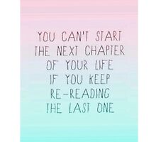 You Can't Start The Next Chapter .... by Cases4Charity