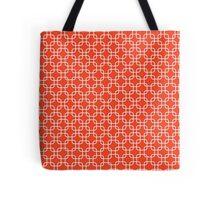 Orange retro squares Tote Bag