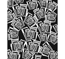 Cool Geometric Pattern in B&W Photographic Print