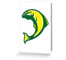 Duck Salmon (Yellow/White/Green) - Spor Repor Salmon Greeting Card