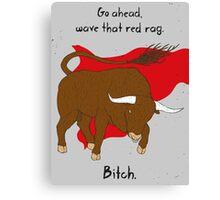Angry Bull Canvas Print