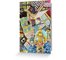 Hard Femme Warrior Barbie Doll Collage Greeting Card