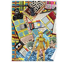 Hard Femme Warrior Barbie Doll Collage Poster