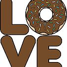 Chocolate Donut Love by DetourShirts