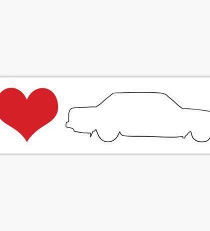 I love 240 Sedan Bumper Sticker Sticker
