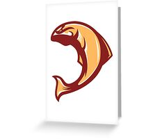 Fall Salmon (Gold/White/Dark Red) - Spor Repor Salmon Greeting Card