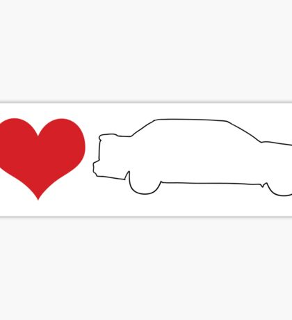 I love 850 sedan bumper sticker Sticker