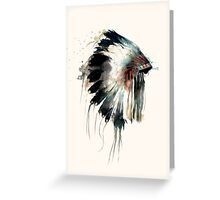 Headdress Greeting Card