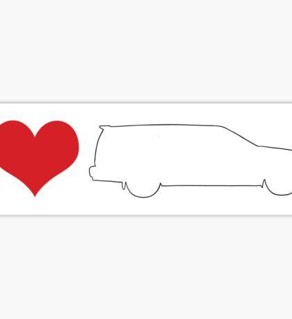 I love 850 wagon bumper sticker Sticker
