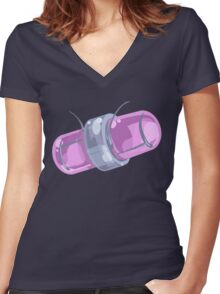 Galactic Space Collection- Pattern 10 Women's Fitted V-Neck T-Shirt