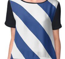 Durham North Carolina Blue & White Team Color Stripes Chiffon Top