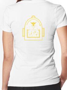 Pokemon Go backpack - Team Instinct Women's Fitted V-Neck T-Shirt