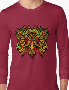 Psychedelic jungle demon Long Sleeve T-Shirt