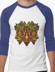Psychedelic jungle demon Men's Baseball ¾ T-Shirt