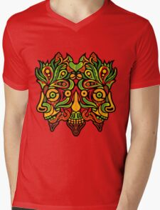 Psychedelic jungle demon Mens V-Neck T-Shirt