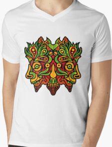 Psychedelic jungle demon Mens V-Neck T-Shirt