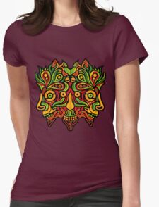 Psychedelic jungle demon Womens Fitted T-Shirt