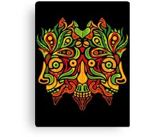 Psychedelic jungle demon Canvas Print