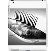 Headlight lashes iPad Case/Skin