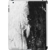 Monochromatic Black and White Wood Bark iPad Case/Skin