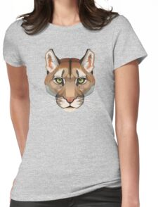 Cougar Face Womens Fitted T-Shirt