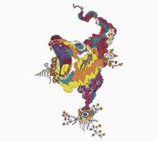 Psychedelic acid bear roar One Piece - Short Sleeve