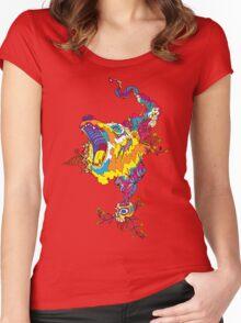 Psychedelic acid bear roar Women's Fitted Scoop T-Shirt