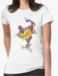 Psychedelic acid bear roar Womens Fitted T-Shirt