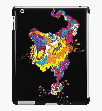 Psychedelic acid bear roar iPad Case/Skin